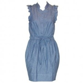 KAREN WALKER - Chambray denim dress