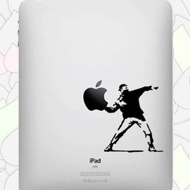 Banksy Molotov - Vinyl Decal for Ipad or Ipad2