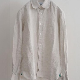 James Mortimer - Irish Linen Shirt  oatmeal