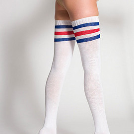 American Apparel - Chaussettes-Bas à Rayures