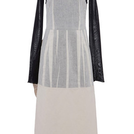 MARNI - SS2015 Bonded Cotton Silk Toile Long Sleeve Dress