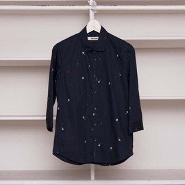 FACTOTUM - EMBROIDERY HALF SLEEVE SHIRT
