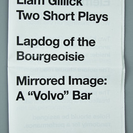 Liam Gillick - Liam Gillick Two Short Plays
