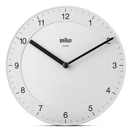 BRAUN - BC06 Classic Analogue Wall Clock - White