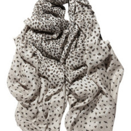 Mulberry - Animal-print woven scarf