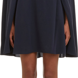 VALENTINO - Cape-Back Crepe De Chine Dress