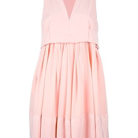 balenciaga - pink pleated dress