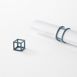 nendo - cubic rubber-band - stationery collection