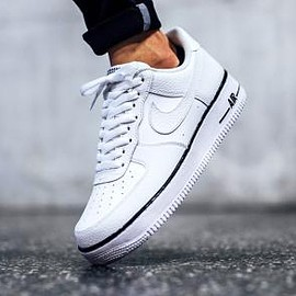 NIKE - NIKE AIR FORCE 1 WHITE/BLACK/WHITE