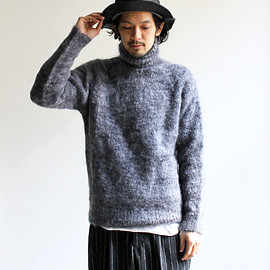 OLD DERBY KNITWEAR - L/S PLAIN POLO PULL OVER モヘアニット