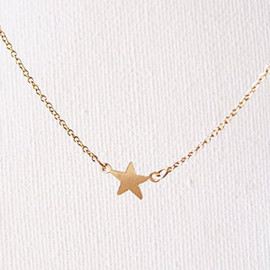 pomme - star necklace 14kgf