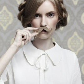Tatty Devine - Moustache Necklace - wood