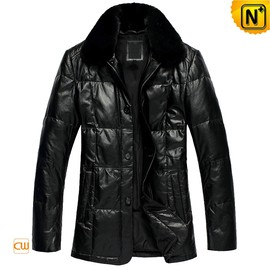 CWMALLS - Leather Down Padded Coats CW866313