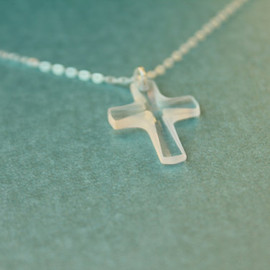LiansElegance - Swarovski Cross Sterling Silver Necklace