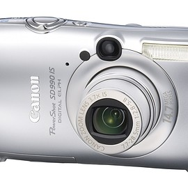 Canon - Canon Powershot SD990IS 14.7MP Digital Camera with 3.7x Optical Image Stabilized Zoom (Silver)