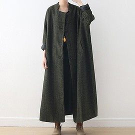 overcoat for women - Oversized wool overcoat for women, maxi wool coat, Women's Winter coat