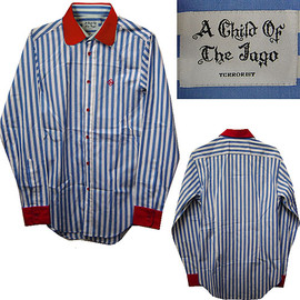 A CHILD OF THE JAGO - A Child Of The Jago 1% Stripe Shirt ア チャイルド オブ ザ ジャゴー 1%シャツ