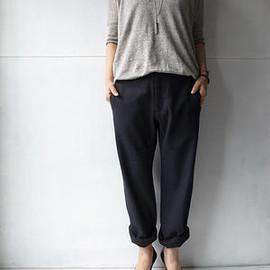 evam eva - cotton silk straight pants