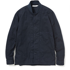 nonnative - TRAINER SHIRT COTTON CHINO OVERDYED