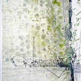 Stephanie Devaux - untitled, mixed media on paper