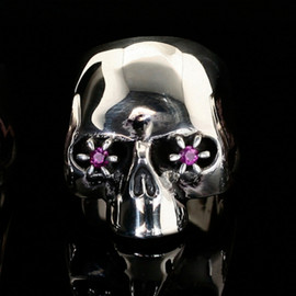 JAM HOME MADE, NUMBER (N)INE - JAM HOME MADE × NUMBER (N)INE SKULL RING STONE EYES