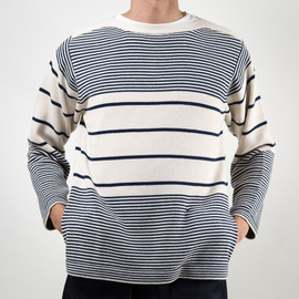 SON OF THE CHEESE - C100 BORDER SWEATER(WHITE)