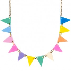 Tatty Devine - Bunting Necklace - Fluoro Lite