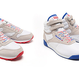 MAISON KITSUNÉ, REEBOK - CLASSIC LEATHER & FREESTYLE HI