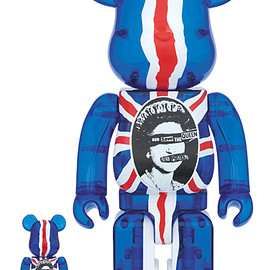 MEDICOM TOY - BE@RBRICK God Save The Queen Clear Ver. 100% & 400%