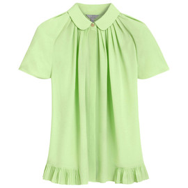 MULBERRY - Mini Pleat Shirt Mint Silk Marocaine