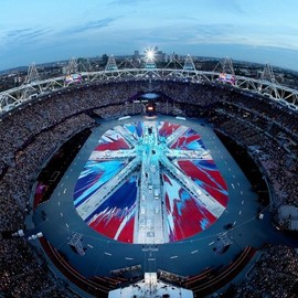 Damien Hirst - Damien Hirst Designs Flag for the London Olympics Closing Ceremony