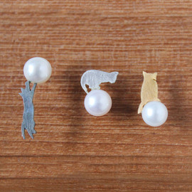 mashroom pin-earring
