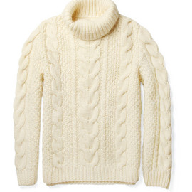 Maison Martin Margiela - Chunky Cable-Knit Wool Sweater