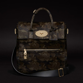 Mulberry - LARGE CARA DELEVINGNE BAG IN KHAKI CAMOUFLAGE HAIRCALF