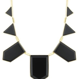 HOUSE OF HARLOW 1960 - Black Resin feather necklace