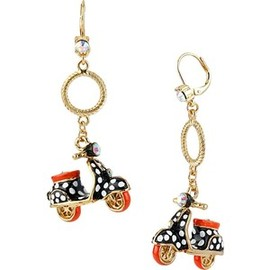 BETSEY JOHNSON - Polka Dot Scooter Earring