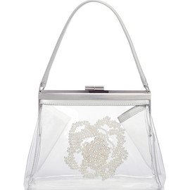SIMONE ROCHA - Clear Vinyl Handbag With Pearl Embellishment