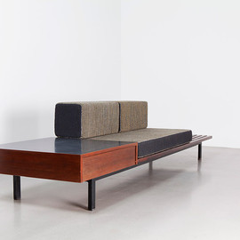 Charlotte Perriand - Bench with storage, 1958, Steph Simon edition, Cansado City