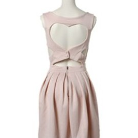 TOPSHOP - TOPSHOP CLOTHING / HEART BACK PROM DRSS