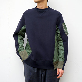 sacai - Sponge Sweat Pullover (Navy)