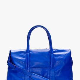 Maison Martin Margiela - Royal Blue Leather Duffle Bag