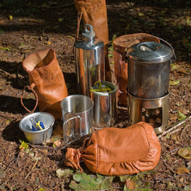 Food and drink equipment for wilderness use.