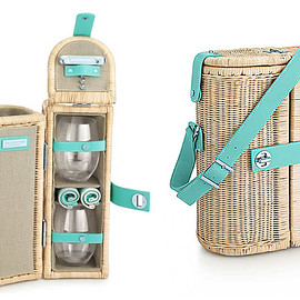 TIFFANY&Co. - Tiffany Wine Carrier And Picnic Basket Adds Style To Al Fresco Dining