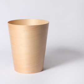 WOODEN BUCKET L BLACK
