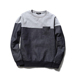 SOPHNET. - FABRIC MIX CREW NECK SWEAT