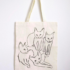 leah goren - Picasso Cats Tote