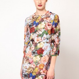 Ted Baker - Decoupage Print Shift Dress