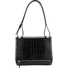 GIVENCHY - Croc-Stamped Pandora Box Crossbody Bag