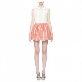 miu miu - LUREX GAZAR FULL MINISKIRT in CAMEO 1 ['12Resort]