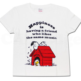 SNOOPY - SNOOPY(スヌーピー)xUnitedAthle(ユナイテッドアスレ)musicTシャツ【新品】WHITE200-004347-030+